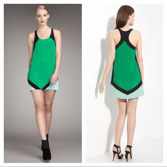 f369615c JAYGODFREY Dresses | Jay Godfrey Yves Silk Colorblock Racerback ...